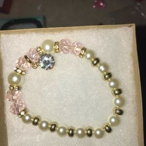 Beaded single diamond bracelet